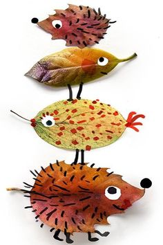 Thanksgiving & Autumn Art for Kids-Herfst / autumn Autumn Crafts, Nature Crafts, Christmas Crafts, Fall Leaves Crafts, Diy Autumn, Autumn Leaves, Projects For Kids, Diy For Kids, Art Projects