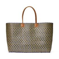 Hat Attack Madagascar Tote - The perfect beach companion, the Diamond Madagascar Tote from Hat Attack features a fresh woven pattern and leather handles for durability.