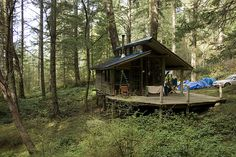 small cabin on San Juan Island, Washington; photo by Kate Sawyer