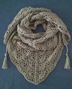 Chal triangular al Crochet (con patron) | Ideas para tejido y manualidades