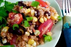 *Gluten Free Dairy Free Santa Fe-Style Quinoa Salad   OAMC from Once A Month Mom