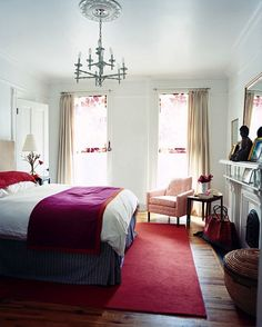 Inspiration for a bedroom makeover.
