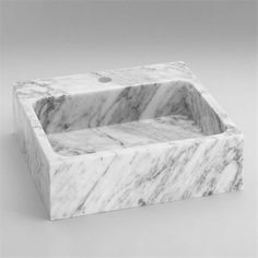 Ronbow 350418-CW Rectangle Natural Carrara Marble Vessel Bathroom Sink (T-E-136) #Ronbow #Contemporary