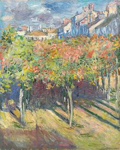 The Lime Trees At Poissy Painting by Claude Monet