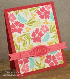 Make A Wish Card by Nichole Heady for Papertrey Ink (January 2013)