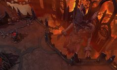 Visionneuse d'images du jeu Heroes of the Storm Game Environment, Environment Design, Fantasy Map, Medieval Fantasy, Roguelike Rpg, Game Level Design, Sci Fi Background, Fire Giants, Hand Painted Textures