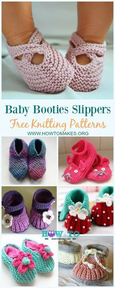 How sweet are these knitted baby booties! Featuring lacy edges, little bows, or quite stripes, you can make a different pair for them to wear every da...