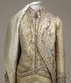 Gentleman's vest and jacket c 1700