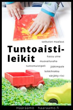 Hääräämö: Suosituimmat tuntoaistileikit kotoa löytyvistä materiaaleista Sensory Wall, Sensory Boards, Sensory Activities, Daycare Rooms, Home Daycare, Early Education, Early Childhood Education, Sensory Bottles, Preschool Lesson Plans