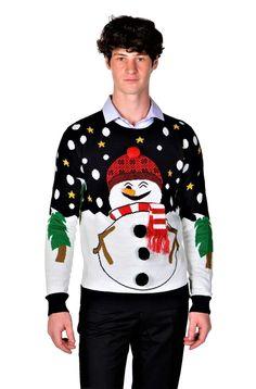 New RWB Slim Fit Men's Ugly Christmas Sweaters Santa Snowman Navy. mens ugly christmas sweater Mens Ugly Christmas Sweater, Ugly Sweater, Sweater Cardigan, Christmas Humor, Being Ugly, Snowman, Santa, Slim, Navy
