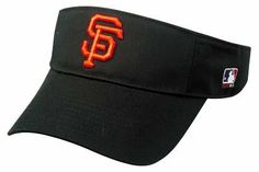 """San Francisco Giants Visor by Team MLB - Authentic Sports Shop. $9.99. Adjustable Velcro Fit. One Size Fits Most. Embroidered """"SF"""" Authentic Giants MLB Logo. Official MLB Visor for Little League, Youth & Adult Baseball/Softball Leagues. San Francisco Giants Visor Official MLB Licensed Replica. Show your team spirit every day with this Authentic Official MLB Licensed San Francisco Giants visor. These 100% cotton twill visors are made by OC Sports and feature a 3D logo ..."""