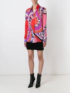 Emilio Pucci Multi-colored Graphic Printed Shirt Blouse Red [Graphic Printed Shirt] - $178.00 : Emilio Pucci Online Dresses Outlet,Pucci Dress Sale 60% Off!