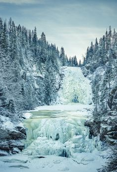 Frozen waterfall, Norway