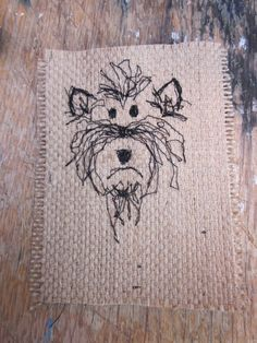 Machine embroidery pup