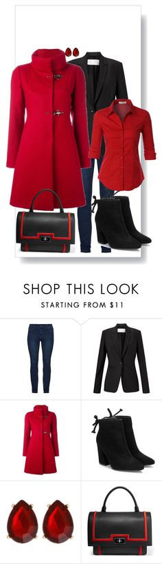 """""""Red&black"""" by stylecoach05 on Polyvore featuring Mode, Finesse, FAY, Erica Lyons, Givenchy und LE3NO"""
