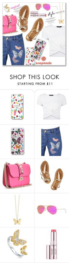 """""""Snapmade.com"""" by dressedbyrose ❤ liked on Polyvore featuring New Look, Retrò, Valentino, K. Jacques, Sydney Evan, Ray-Ban, BERRICLE and Estée Lauder"""