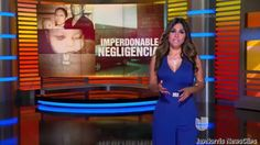 Natalia Cruz, video conduciendo Primer Impacto (7-03-15)