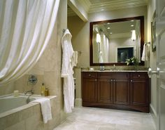A beautiful traditional style bathroom. #InteriorDesign #TraditionalBathroom