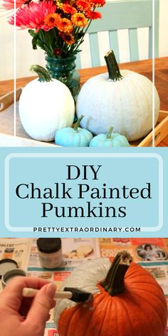 Create your own centerpieces by chalk painting pumpkins to match your home and Fall decor. Painting Pumkins, Chalk Painting, Fall Capsule, Chalk Paint Furniture, Painted Pumpkins, Autumn Theme, Craft Fairs, Table Centerpieces, Craft Stores