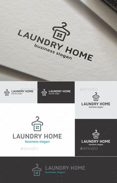 Laundry Home Logo Template Vector EPS, AI #logotype Download: http://graphicriver.net/item/laundry-home-logo/14310108?ref=ksioks