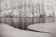 """Winter Lake 1,"" original landscape photoraphy by artist Louis Wallach available at Saatchi Art #SaatchiArt"