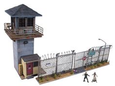 McFarlane Toys Building Sets The Walking Dead Prison Tower & Gate Building Set Walking Dead Prison, Walking Dead Tv Series, The Walking Dead Tv, Prison Break, Brick Building, Building Toys, Tower Building, Sports Games For Kids, Stories For Kids
