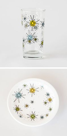 Cosmic Glasses - Set of 4 | dotandbo.com   #DotandBoDream