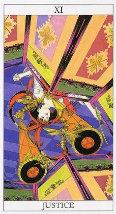 yoshitaka amano tarot cards   Love and Mystery Tarot by Yoshitaka Amano: Justice