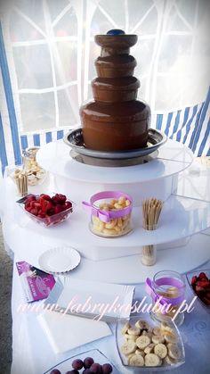 Fontanna czekoladowa - dzień dziecka www.fabrykaslubu.pl