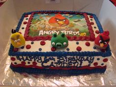 Angry Birds Invitations Banner Goody Bags Party Favor Cake Top