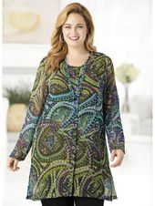 Mosaic Duster and Tank Set