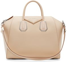 Givenchy Beige Medium Waxy Antigona Bag