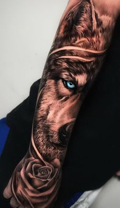 50 Of The Most Beautiful Wolf Tattoo Designs The Internet Has Ever Seen - beaut. - 50 Of The Most Beautiful Wolf Tattoo Designs The Internet Has Ever Seen – beautiful wolf tattoo - Wolf Tattoo Forearm, Forearm Sleeve Tattoos, Best Sleeve Tattoos, Tattoo Sleeve Designs, Tattoo Designs Men, Tattoo Wolf, Best Forearm Tattoos, Man Arm Tattoo, Back Tattoo Men