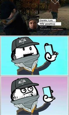 The Biggest Scumbag in Watch_Dogs - Video Game Memes Video Game Memes, Video Games Funny, Funny Games, Memes Humor, Dog Memes, Meme Pictures, Best Funny Pictures, Animal Pictures, Watch Dogs 1