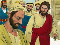 Free Bible illustrations at Free Bible images of Jesus healing a man in Jerusalem who was born blind. (John 9:1-41) (And lots of other stories as well)