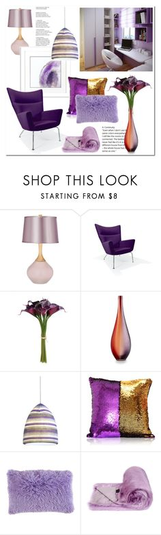 """purple room # Homelava"" by homelava ❤ liked on Polyvore featuring interior, interiors, interior design, home, home decor, interior decorating, Rove Concepts, Cyan Design, M. Kennedy Home and Helen Moore"