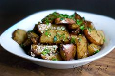 honey balsamic rosemary roasted potatoes. (try pan version w/balsamic-rosemary reduction) - simply food love