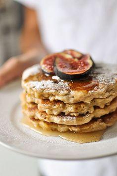 "Greek yogurt pancakes. ""Repinned by Keva xo""."