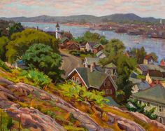 """Gloucester Harbor,"" Joseph Margulies, oil on canvas, 23 5/8 x 29 1/2"", private collection."