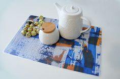 Table mats inspired by KUBI's abstrat paintings http://objectsreartiste.com  #kubi #tablemat #placemat