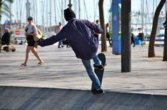 Skating at Port Vell, Barcelona
