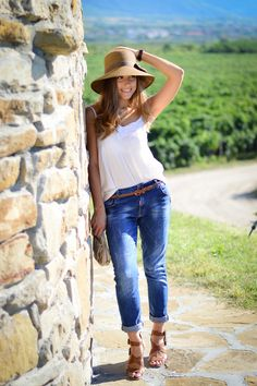 2853e07a60ca love the jeans + shoe combo. Mari Love · Wine Tasting Outfit
