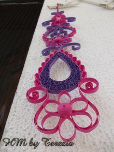 Quilling ornaments, 38 cm long