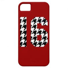 Sweet Sixteen Houndstooth Print iPhone 5 Case