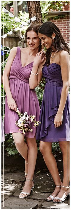 Purple Bridesmaid Dresses, Different Styles, Different Shades
