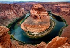 "The famous ""Big Bend"" of the Colorado River"
