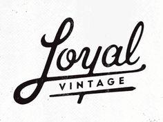 Vintage Graphic Design Alex Roka Loyal Vintage Logo Lettering - Mark for my friend Megan's mobile vintage store. Logo Vintage, Vintage Graphic Design, Vintage Typography, Typography Letters, Typography Design, Branding Design, Ad Design, Vintage Type, Logo Inspiration