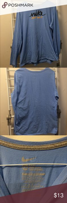Nike Long Sleeve T Shirt Good condition Nike t shirt. Slim fit so size runs a little smaller. Fabric is a little worn. Nike Tops Tees - Long Sleeve