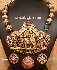 Divine Nakshi Gold Necklace
