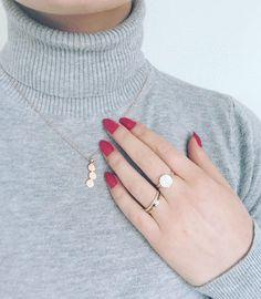 #details#rosegold#simple#needsjewellery#zircons#passionring#affectionring#unitynecklace